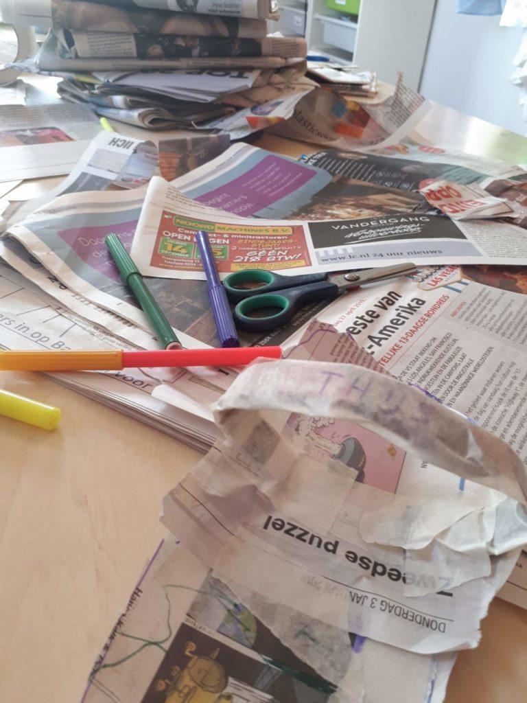 Duurzaam: slippers van kranten maken!